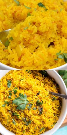 Yellow Rice Recipes, Easy Rice Recipes, Easy Casserole Recipes, Side Dish Recipes, Easy Dinner Recipes, Easy Meals, Greek Yellow Rice Recipe, Orange Rice Recipe, Chicken And Yellow Rice