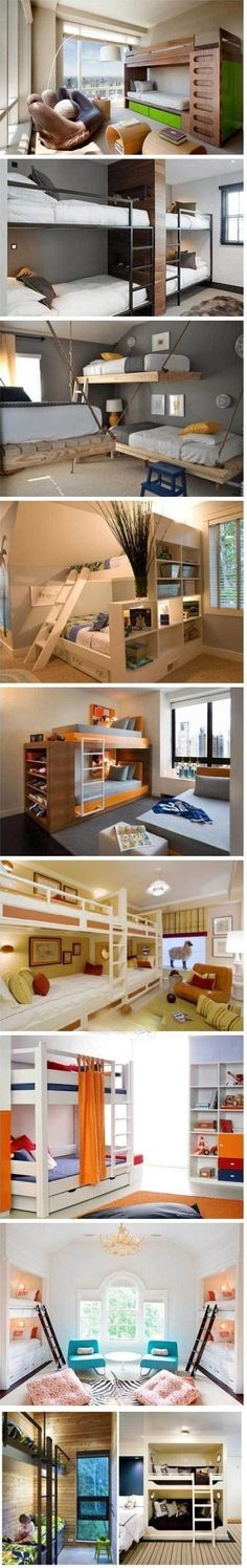 Love the bunks with shelving. genius