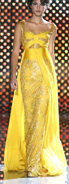 Zuhair Murad yellow stunner.