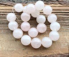 Кварц розовый 12 мм шар гладкий бусины камни для украшений. Handmade.