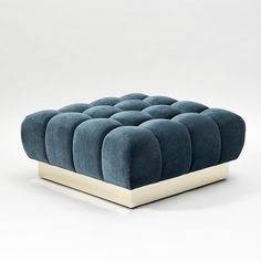 "Todd Merrill Custom Originals, ""Ottoman"" Classic Tufted Sectional Seating, USA…"