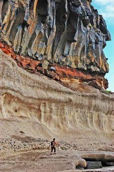 Onwerkelijk mooi. Deze rotsen in Santa Cruz op Tenerife, Spanje.