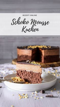 Cake Recipes Schokoladen Mousse Kuchen - Ahalni Sweet Home No Bake Desserts, Just Desserts, Dessert Recipes, Cake Cookies, Cupcake Cakes, Yummy Treats, Sweet Treats, The Joy Of Baking, Chocolate Mousse Cake