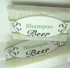 Shampoo Beer via Ashli Soap. Click on the image to see more!