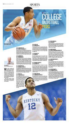College Basketball Picks  Epoch Times #newspaper #editorialdesign #graphicdesign