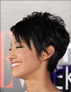 Recommendations regarding amazing looking women's hair. Your own hair is undoubtedly precisely what can define you as a person. To a lot of individuals it is certainly vital to have a fantastic hair do. Hair Hair and beauty. Cute Hairstyles For Short Hair, Pixie Hairstyles, Short Hair Styles, Pixie Haircuts, Sassy Haircuts, Pixie Styles, Updo Styles, Medium Hairstyles, Celebrity Short Haircuts