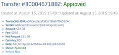My 26th payment proof from ACX! I WORK FROM HOME less than 10 minutes and I manage to cover my LOW SALARY INCOME. If you are a PASSIVE INCOME SEEKER, then AdClickXpress (Ad Click Xpress) is the best ONLINE OPPORTUNITY for you.Start with zero money and STILL make money at ACX. It is absolutely possible, because we see thousands of Members doing it every single day. Check it out! Thank You ACX!!!!  http://www.adclickxpress.com/?r=sojcica&p=mx