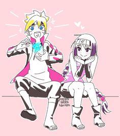 Mitsuki Naruto, Uzumaki Boruto, Naruto And Hinata, Naruhina, Boruto Next Generation, Cute Food Drawings, Boruto Naruto Next Generations, Couple Cartoon, Anime Couples Manga