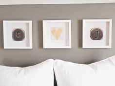 cute wall decor idea using initials