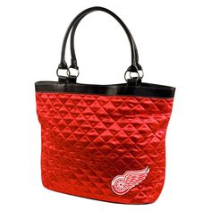 Detroit Red Wings NHL Quilted Tote (Light Red)