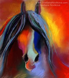 art I'm attempting to paint for a friend. bright horse painting by www.SvetlanaNovikova.com, via Flickr