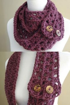 30 Stunning Crochet Cowls, Crochet Scarves, and Crochet Shawl Patterns are incredible for making a project you will love wearing! From lacy shawls to chunky scarves, you'll find something for everyone on this list! #crochet #crocheting #cowls #scarves #shawls #crochetpatterns Quick Crochet Gifts, Easy Crochet, Crochet Cowls, Crochet Scarves, Granny Pattern, Chunky Scarves, Scarf Patterns, Pattern Fashion, Shawls