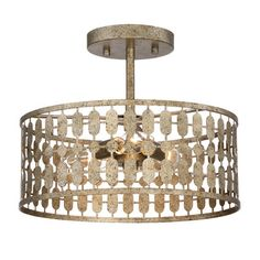 Donny Osmond Lowell 3-Light Semi Flush Mount & Reviews | Wayfair