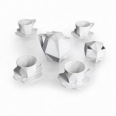 6 | 3-D Printing Brings Czech Cubism To Life In Gorgeous Geometric Dinnerware Set | Co.Design | business + design
