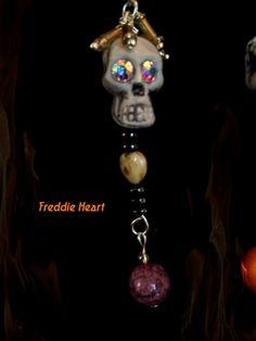 Halloween Freddie Skull Charm Choose Necklace by TheCelticBazaar