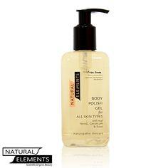 Natural Elements - Body Polish Gel 250ml, £25.99 (http://www.naturalelementsskincare.com/body-polish-gel-250ml/)