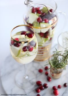 Winter White Wine Winter Sangria--say that three times fast! I expressed my love for a good...