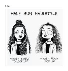 Half bun