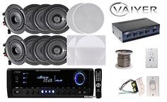 Other Home Stereo Components: New Vaiyerkits Home Theater System (8) 150W 5.25 In-Wall In-Ceiling Stereo -> BUY IT NOW ONLY: $407 on eBay!
