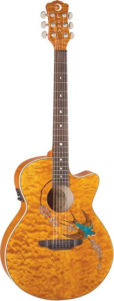 f0affddccb Luna Guitars - Fauna Swift acoustic electric Guitar Tips, Guitar Art, Music  Guitar,