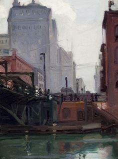 teigl: Martin Hennings, Study for The Bridge, circa 1916Oil on canvas, 21 by 18½ inches