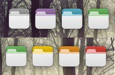 7 Custom Flurry/Phoney OS X Folder Icons Set - http://www.dawnbrushes.com/7-custom-flurryphoney-os-x-folder-icons-set/