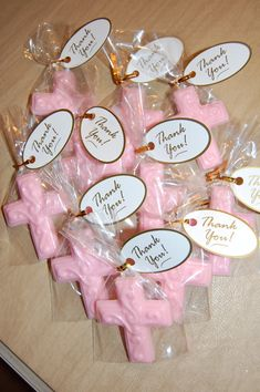 Communion, Baptism, Confirmation Chocolate Cross(12) with thank you tags each cross is 2 1/2 inches by 2 inches Its that time of year for Christenings/Confirmations/Baptisms/Communions/ etc. Have the most adorable party favors for your loved ones on these special days! DURING THE WARM WEATHER MONTHS....Be sure to add cold packs to your order to ensure your favors arrive in perfect condition. The ice pack can be found in our Etsy shop. INGREDIENTS: Sugar, partially ...