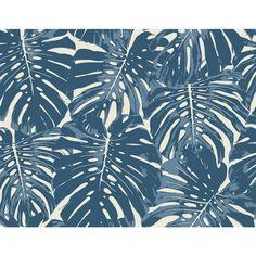 Roommates Decor Tropical Leaf Tan Peel And Stick Wallpaper