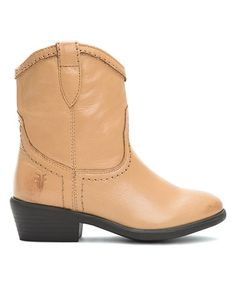 Another great find on #zulily! Tan Carson Shortie Leather Cowboy Boot #zulilyfinds