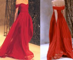 Custom Made Off Shoulder Red Floor Length Maxi by happiness2633, $140.00