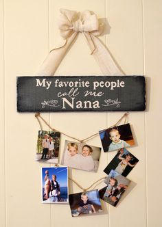 My favorite People Call me Nana pallet sign with by ShakingFifty