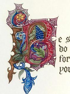Joshua 1:9/print of original/custom calligraphy/old world