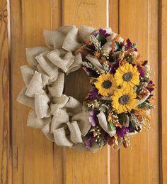 fall wreath using nuts   natural sunflower wreaths 87928 22 sunflower wreath $ 79 95 enter ...