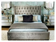 Wing Bed Upholstered - Contemporary Furniture Toronto Mississauga Area