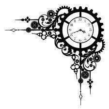 Art deco clock swirl