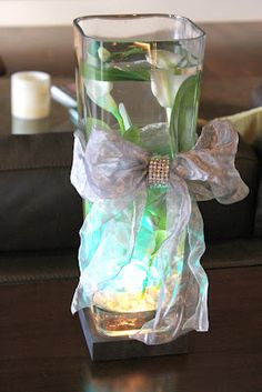 Vase with LED lights from Saveoncrafts.com #party