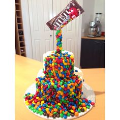MnM gravity defying birthday cake! for any age, and its very impressive, not even hard to make!