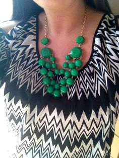 """@chelsalexandra1's statement necklace is so much fun! #showusyoursparkle"" Featured on BaubleBar - yay <3"