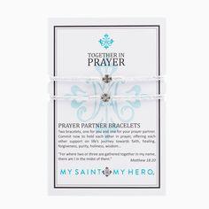 Prayer Partner Bracelets Metallic Silver And Silver