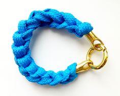Sznurówkowa bransoletka // Shoelace's braclet #bracelet #knit #crochet #shoelaces #shoelace #gift #gifts #handmade