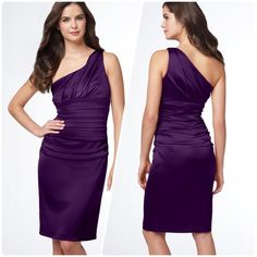 Suzy Chin for Maggy London Ruched Dress size 6 NWT This is a brand-new dress with its tag. I use the stock photo to show the color, along with pictures of the actual address on the form. Suzy Chin Dresses One Shoulder