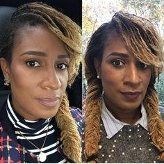 Our beautiful ♥️ Twist Braid Hairstyles, Braided Hairstyles For Black Women, Dreadlock Hairstyles, Twist Braids, Colored Sisterlocks, Curly Hair Styles, Natural Hair Styles, Braids For Short Hair, Scene Hair