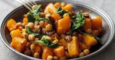 Recette de Curry de potiron aux pois chiches coupe-faim Croq'Kilos. Facile et rapide à réaliser, goûteuse et diététique.