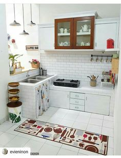 all idea inspiration design interior and exterior home modern decor Kitchen Room Design, Home Room Design, Kitchen Sets, Home Decor Kitchen, Kitchen Interior, Home Kitchens, Minimalist Kitchen, Kitchen Remodel, Decoration