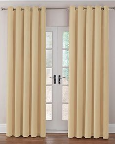 For middle room - Thermal Velour Eyelet Curtains | Home Essentials