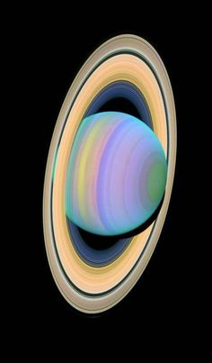Saturn's Rings in Ultra Violet; Courtesy of the Hubble Telescope