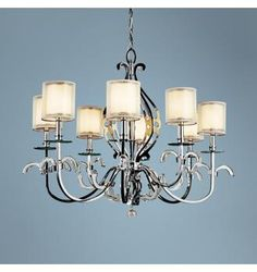 over table chandelier