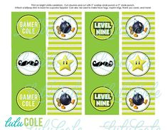 Game Truck Video Game Birthday Party Personalized by lulucole, $6.00  #gametruck #party #cupcake #toppers