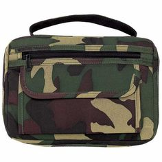 Embassy™ Camouflage Bible Cover with zippered pockets & pen holder #Embassy