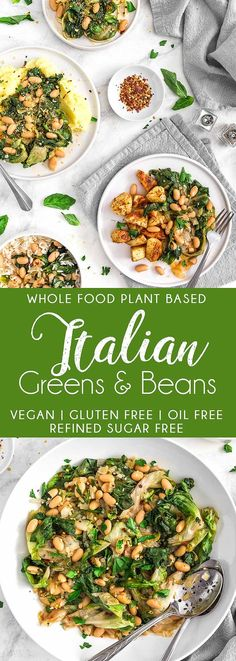 Greens and Beans YUMMY Italian Greens and Beans! Wholesome greens and hearty beans with delicious Italian flavors! YUMMY Italian Greens and Beans! Wholesome greens and hearty beans with delicious Italian flavors! Clean Eating, Healthy Eating, Plant Based Diet, Plant Based Recipes, Vegetarian Recipes, Healthy Recipes, Vegan Vegetarian, Quinoa Vegan, Whole Food Recipes